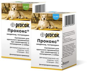Популярные суспензии от глистов для собак и щенков мелких пород
